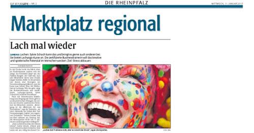 Lachen im Trend: Rheinpfalz Marktplatz regional lacht mit Sylvie Schoch in Landau
